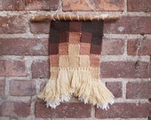 Autumn Grid Woven Wallhanging