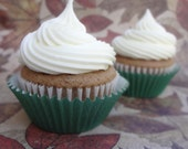Salted Caramel Apple Filled Spice Cupcakes with Whipped Cream Cheese Frosting- Local Delivery Only