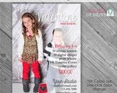 INSTANT DOWNLOAD - Be Mine Valentine Marketing Board 2- custom 5x7 photo template
