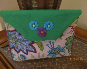Felt and Cotton clutch