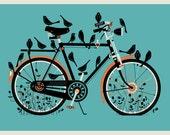 Bird Bike silkscreen