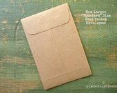 """200 Standard Seed Envelopes, Kraft Brown Standard Size Seed Packets, Favor packets, shower favor / wedding favor envelopes 3x4.5"""" (76x114mm)"""