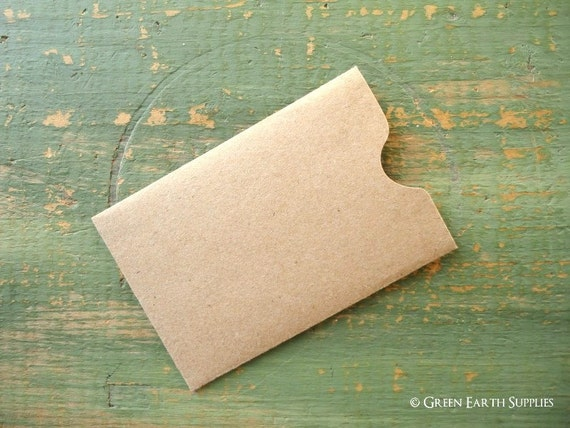 50 gift card sleeves gift tag sleeve credit card envelope 50 gift card sleeves gift tag sleeve credit card envelope business card sleeve recycled kraft brown 2 38 x 3 12 60x89mm from greenearthsupplies reheart Images
