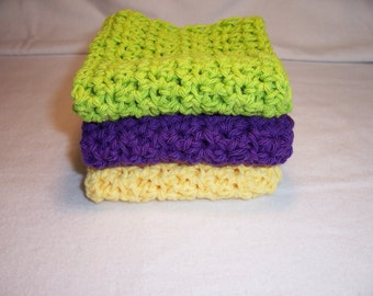 Handmade Crocheted Dish / Wash Cloths,Gifts,Home and Living,Linens,Kitchen Dishcloths,Bath Cloths
