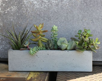 Concrete Windowsill Planter 12""