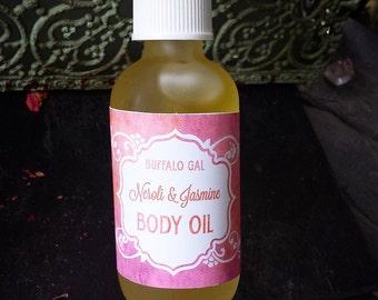 Organic Body Oil // NEROLI JASMINE // toxin free moisture Bath Body & Massage // Organic  Vegan  Cruelty Free  Natural Skincare