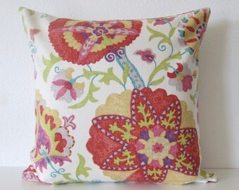 Ladbroke Circles Punch jacobean floral suzani decorative pillow cover