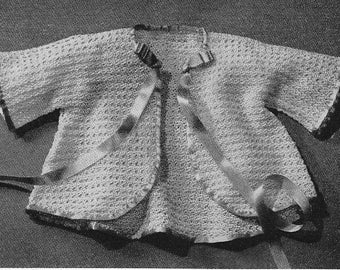 Vintage Baby Thread Crochet Sweater PDF Pattern