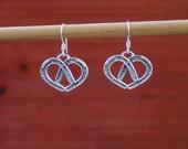 Double Horseshoe Heart Earrings