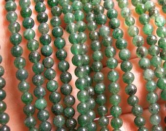 Green Aventurine 4mm round beads -  full strand - 100 beads - Brazil Aventurine - RFG35