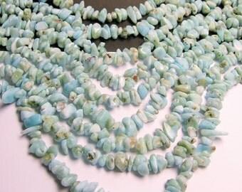 Larimar Gemstone - full strand - pebble - chip stone - PSC71