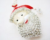 Santa Necklace, Winter Necklace, Christmas Necklace,Xmas Necklace, Holiday Necklace, Holiday Jewelry, Santa Jewelry, Christmas Santa