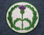 Royal Thistle Peace Sign Iron on Patch