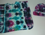 Tie Dye  Baby Pull over Bib size 0/S and Infant Cap