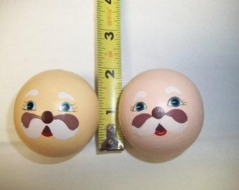 Packaged Darice Wood Santa Doll Head Bead