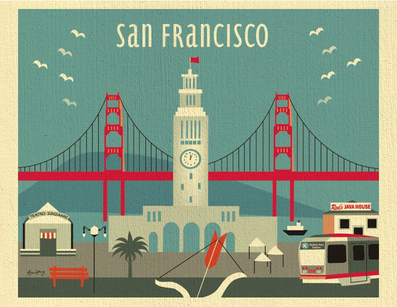 San francisco wall art san francisco wall art pottery for Buy art san francisco