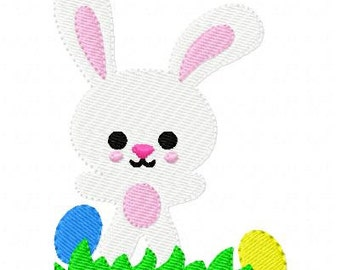 Bunny Rabbit Embroidery Design// Easter Eggs // Joyful Stitches