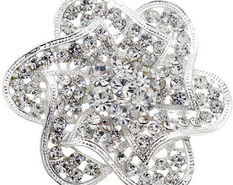 Crystal Flower Wedding Pin 1004022