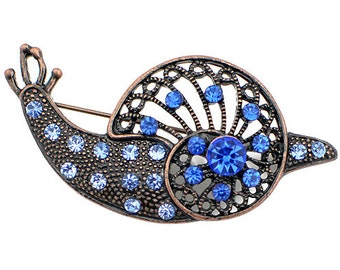 Antique Sapphire Crystal Snail Brooch 1001942