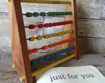 Vintage Abacus 1950s or 60's Wood Wodoen Beads Rare Ornate