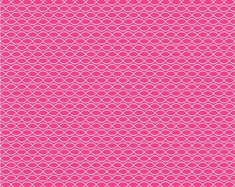 Vinyl wallpaper. Self-adhesive - geometric print on fuchsia  (SHANI)