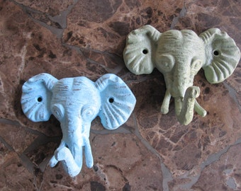 Elephant Anthropologie Inspired Elephant Hook/ Wall Hook/ White Elephant/ Coat Hook/ Bath Hook/ Pool Hook/ Key Hanger/ nursery decor