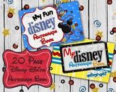 Disney Autograph Book Digital Pages - 20 Page Book Disney Junior Theme - download - disneyland walt disney world  wdw