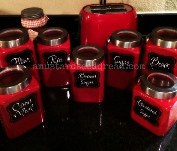 kitchen canister labels kitchen accessory vinyl wall art