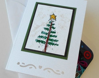 Christmas Gift Card Holder: Blank & Handmade - Pencil Tree