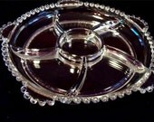 6 Part RELISH Imperial CANDLEWICK Glass from Ohio 1950's Pristine