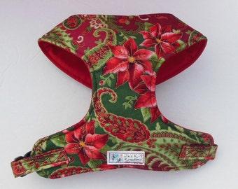 Christmas Paisley Comfort Soft Dog Harness - Made to order -