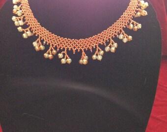Orange Collar Necklace