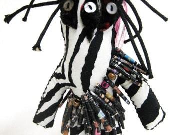 Halloween Art Three Eyes Warrior Good Luck Juju Rag Doll