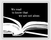 Reading Poster, Book art print, library decor