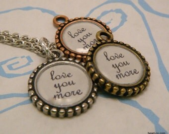 Love You More Necklace - Round Decor Style