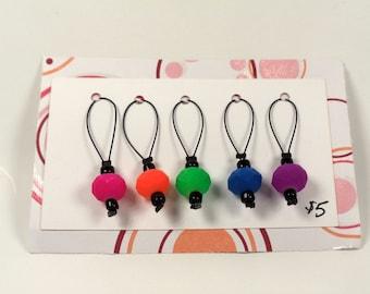 Rainbow Stitch Markers - Set of 5