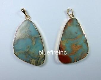 Natural color Sea Sediment Jasper/ African Opal Pendant