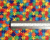 Quitling Fabric - Timeless Treasures - Multi Puzzle - Fat Quarter