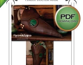 PDF Plague Doctor Mask pattern. Instant Digital download
