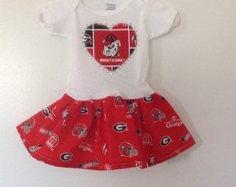 University of Georgia Inspired Infant Dress