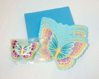 Vintage Stationary Beautiful Butterfly Notecards 1980s Current Mariposa