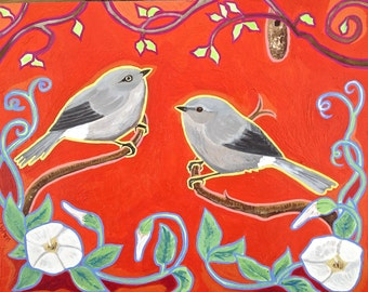 Mini Mates Photo Print of Bird Painting