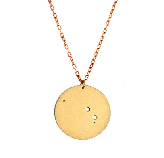 Aries Gold Flash Constellation Pendant Necklace