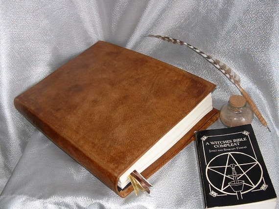 Large Practical Magic Book of Shadows Leather