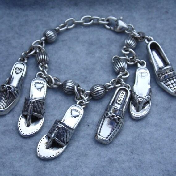 Shoe Charm Bracelet: Brighton Charm Bracelet I Love Shoes Bracelet By GumboStew