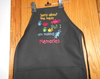Sorry about the Mess Child's  Apron