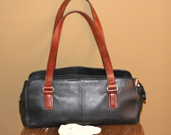 Black Fossil Purse vintage leather purse