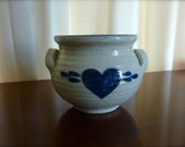 Vintage Mahon HEART Pottery Bowl 1985 Made in USA