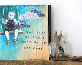 Custom personalized mixed media wood Art.