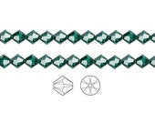 Swarovski Crystal Beads Emerald 5328 Xilion Bicone 3mm Package of 48